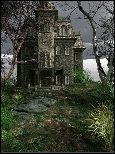 Create a family friendly haunted house inside your garage with a haunted house scene setter. Click the pic for ideas.