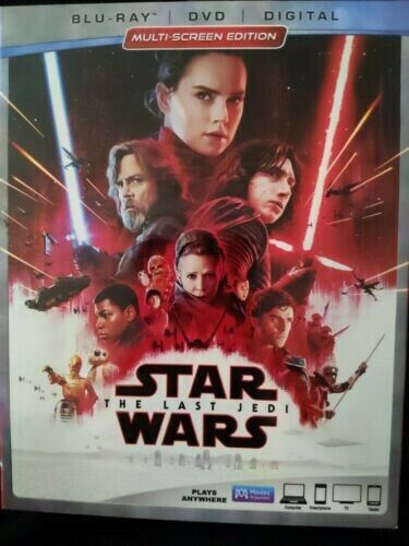 Star Wars The Last Jedi Blu-Ray DVD Discs ONLY, NO DIGITAL COPY, 2018  - $10.00