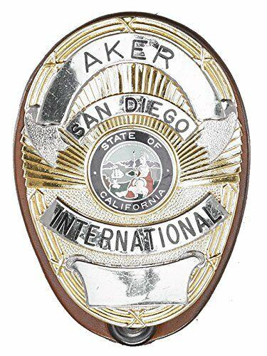 Aker Leather 591 Clip-On Shield Badge Holder, Tan