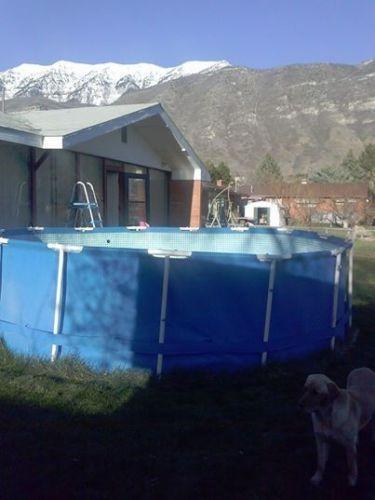 Metal Frame Intex Swimming Pool Ebay