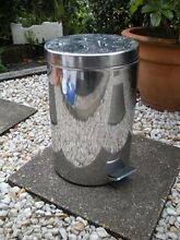 silver foot peddle rubbish bin $9 Albion Brisbane North East Preview