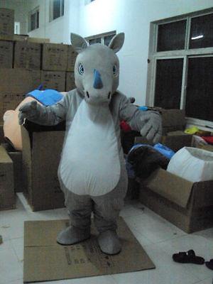 Rhinoceros Costume (new Professional selling Rhinoceros adult Mascot Costume fancy dress       )
