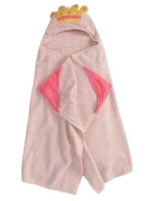 Peanut & Ollie Hooded Princess Bath Towel Child Size Pink 100% (Princess Hooded Bath Towel)
