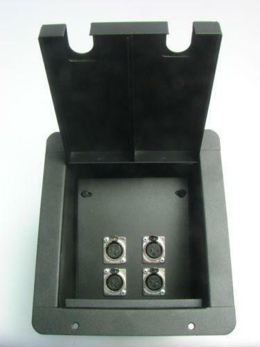Xlr floor box pro audio equipment ebay for Xlr floor box