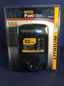 New Stanley FatMax 12V Max Lithium Ion Battery Charger FMC090L