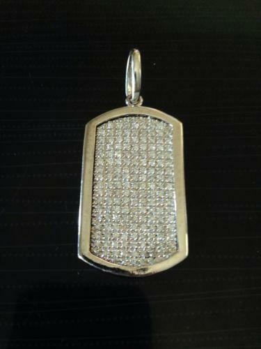 White Gold Dog Tag Ebay