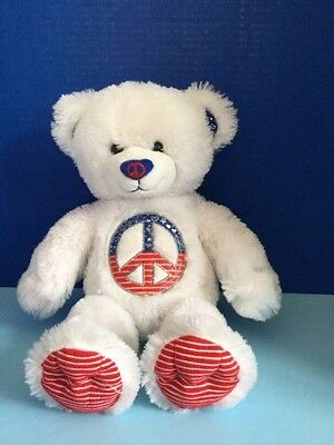 Build A Bear Beary Limited Edition Peace Bear. ONLY 1 ON EBAY! MAKE ME AN OFFER! - Build A Bear Offers