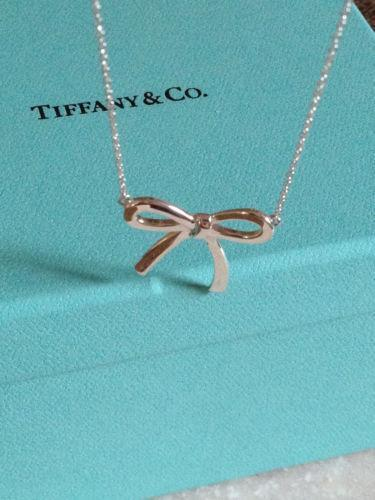 df5843c39 Tiffany Bow Necklace | eBay