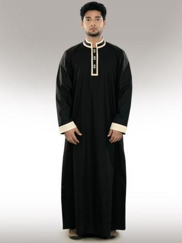 Thawb middle east ebay for Mens dress shirt monogram location