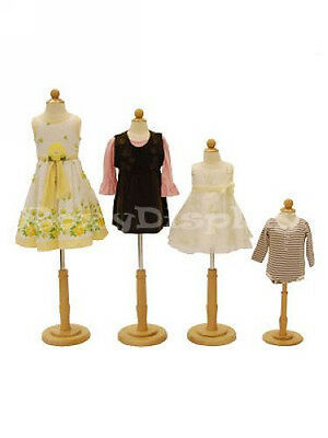 4 Pcs Children Mannequin Manequin Manikin Dress Form Jf-c06m 1t 2t 34t Group