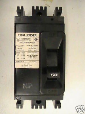 Challenger Type Ne Circuit Breaker 2pole 50amp 240v New