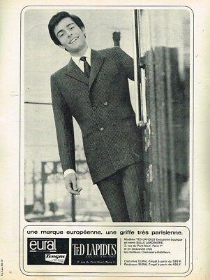 G- publicité advertising 1965 pret à porter costume homme ted lapidus eural