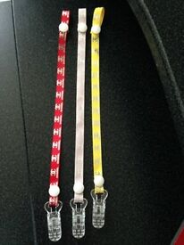 Ribbon Only Baby Dummy Clip Various designs