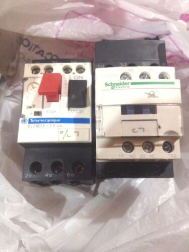 Schneider Electric LC1D09 And Square D GV2ME08 Motor Starter