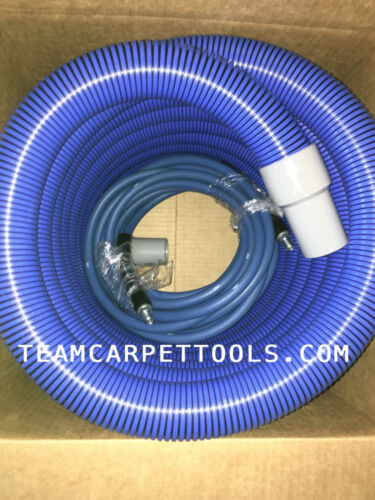"""25 FT. 1.5"""" Carpet Cleaning Extractor Vacuum & 25 FT. 1/4"""" Solution Hose Combo"""