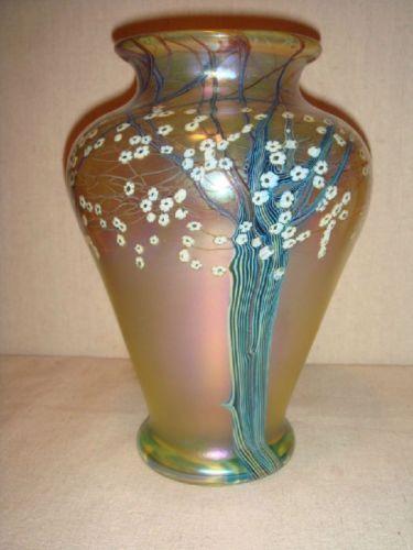 Orient Flume Vase Art Glass Ebay