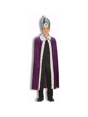 Forum Novelties Mens Mardi Gras King Halloween Party Robe Costume Purple (Mardi Gras Party Kostüme)