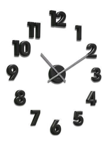 Large Number Wall Clock Ebay