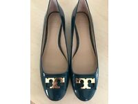 BRAND NEW! BARGAIN! RRP 220 TORY BURCH GIGI PUMPS SHOES SIZE 4.5 UK IN OCEANO GREEN COLOUR BRAND NEW