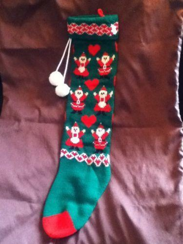 Knit Christmas Stocking Ebay