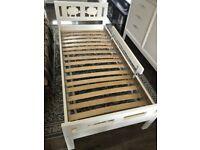 Ikea Kids/Junior/Toddler Bed Frame With Mattress White 70x160 cm