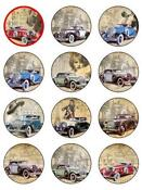 Rice Paper Cake Toppers Cars