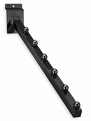 Only Hangers New 6 Ball Slatwall 34 Square Tubing 16l Waterfall Black 10 Pcs.