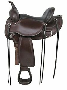 "17"" Circle Y Round Skirt Flex2 Western Saddle Wide Tree"