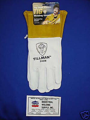 Tillman 24cm Tig Welding Gloves Medium Top Grain Kidskin