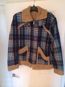 Vine Mens 1970s Kn Cpo Jacket Green Plaid Wool Coat Hipster Winter Lumberjack Hunting On Up
