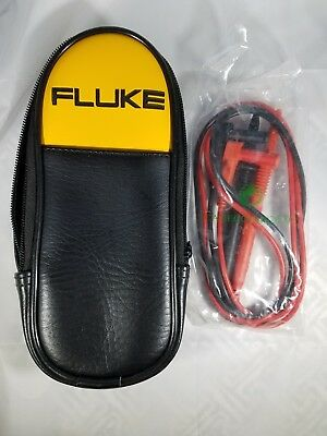 Fluke Soft Carrying Case Pouch New 8-3-1 Free Set Of Test Leads