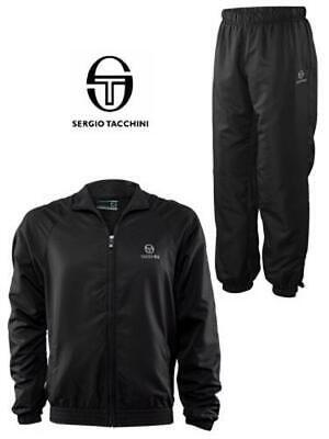 Sergio Tacchini Novak Tennis Jogger warm-up track-suit JACKET & PANT XL BLK $200
