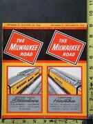 Milwaukee Road Timetable