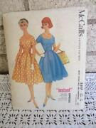 Vintage McCalls Dress Pattern