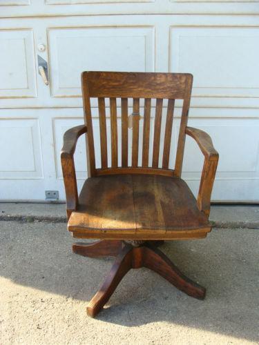 Oak Swivel Office Chair Ebay