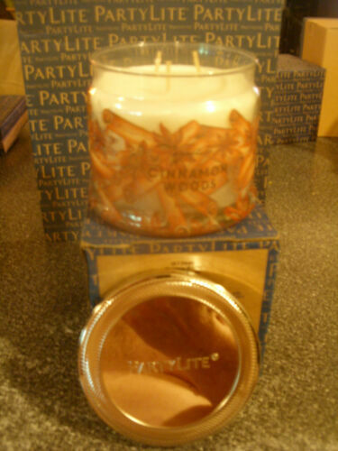 Partylite CINNAMON WOODS SIGNATURE 3-wick JAR CANDLE  BRAND NEW