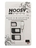4 In 1 Noosy SIM Adapter nano to micro/regular & Eject Pin.