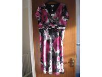 BNWT; CC party floral purple/black dress; UK size 16