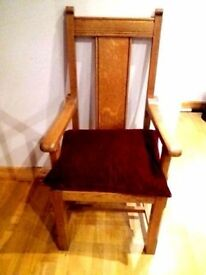 Antique Church Altar Chair
