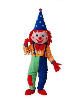 Happy Clown Mascot Costume Cosplay Adult Fancy Dress Halloween Party Outfit GIFT - Happy Cosplay Costume