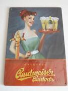 Budweiser Blechschild