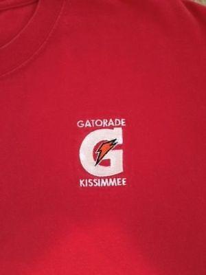 GATORADE G ORANGE LIGHTING BOLT Mens Adult Red Medium Tee / T-Shirt NEW