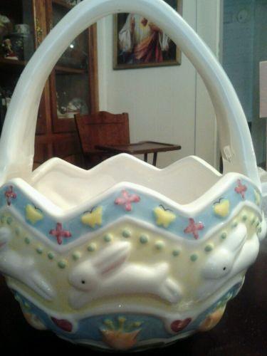 Porcelain Easter Basket Ebay