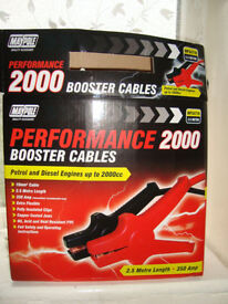 Maypole Booster Cables / Jump Leads 10mm X 2.5M Boxed - Performance 2000