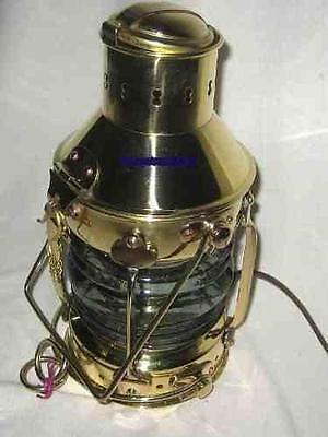Massive Schiffslampe - Schiffsleuchte - Messing H 24 cm- elektrisch