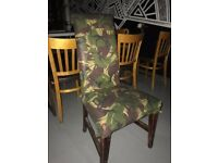 Camouflage wooden chair X 1 - Commercial grade - RRP £119 - Designer furniture
