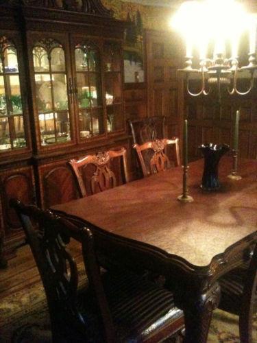 Mahogany Dining Room Set eBay