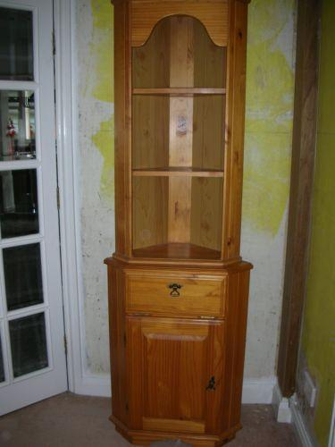 Pine Corner Display Cabinet Ebay