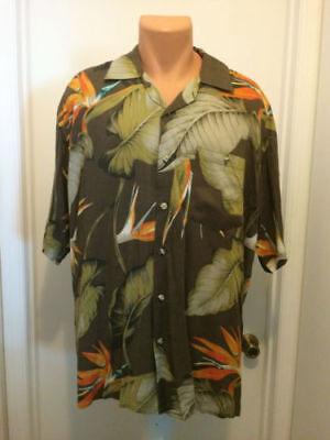 Caribbean Bird (Caribbean Blues bird of paradise short sleeve hawaiian shirt xl)