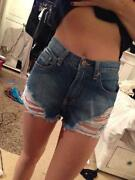 Urban Outfitters High Waisted Denim Shorts